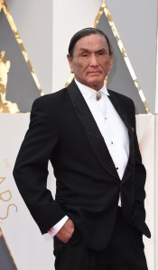 Duane Howard arrives on the red carpet for the 88th Oscars on February 28, 2016 in Hollywood, California. AFP PHOTO / VALERIE MACON / AFP / VALERIE MACON (Photo credit should read VALERIE MACON/AFP/Getty Images)