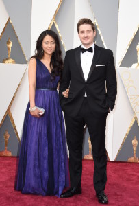 Best Animated Feature, Anomalisa director Duke Johnson and guest arrive on the red carpet for the 88th Oscars on February 28, 2016 in Hollywood, California. AFP PHOTO / VALERIE MACON / AFP / VALERIE MACON (Photo credit should read VALERIE MACON/AFP/Getty Images)