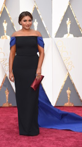 Actress Mindy Kaling arrives on the red carpet for the 88th Oscars on February 28, 2016 in Hollywood, California. AFP PHOTO / VALERIE MACON / AFP / VALERIE MACON (Photo credit should read VALERIE MACON/AFP/Getty Images)